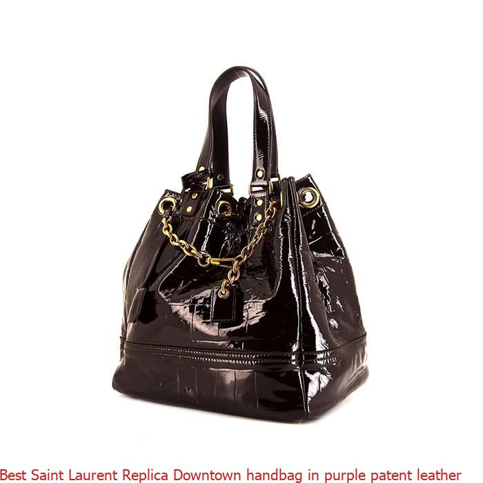 Best Saint Laurent Replica Downtown handbag in purple patent leather – High  Quality Designer Replica Bags  2be2085eac839